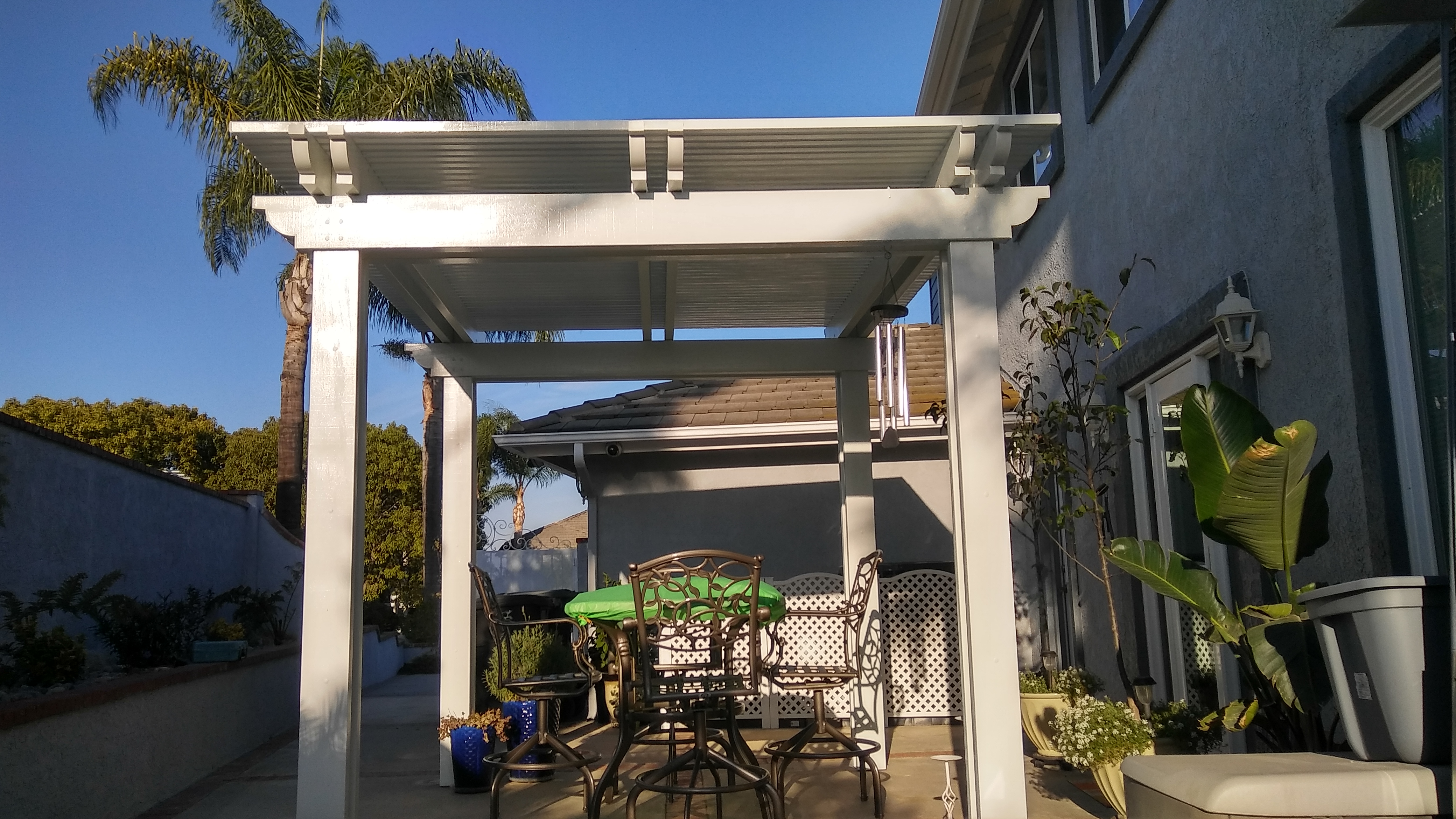 Beautiful Free Standing Patio Cover
