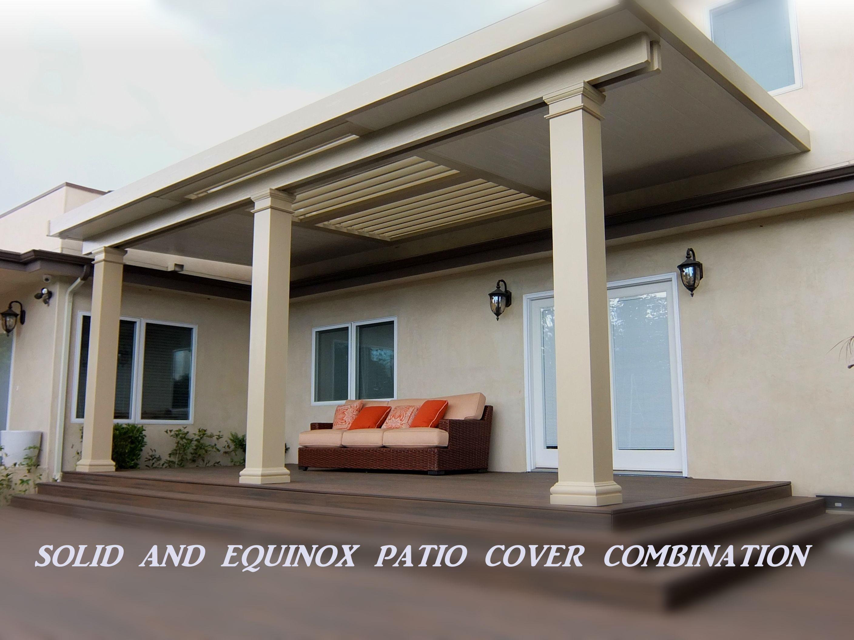 Solid patio cover Ranco Cucamoga